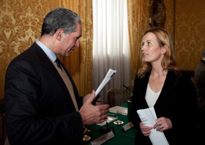 """Conferenza promossa da CIPMO e IAI: """"Israele/Palestina, può ripartire il processo di pace?"""" 10 aprile 2013, Palazzo Rondinini, Roma."""