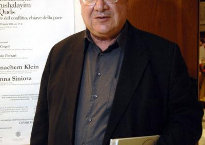 Hanna Sinora, editore del The Jerusalem Times e co-direttore di IPCRI, Israel/Palesatine Center for Research and Information