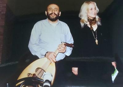 l'israeliana Miri Aloni e il palestinese Mustafa Al-Kurd