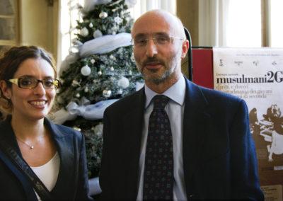 """Arianna Pitino. Roberto Mazzola. Convegno """"Musulmani 2G"""" 2009, Torino"""
