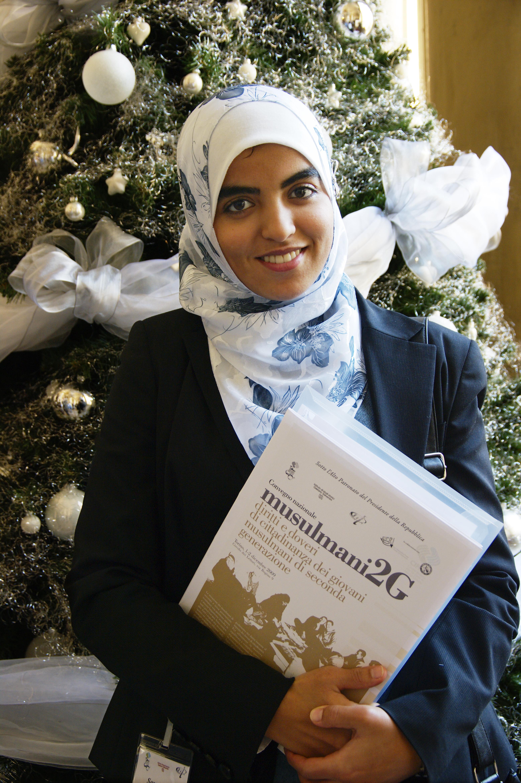 Sara Amzil, rappresentante Associazione Giovani Musulmani d'Italia. Musulmani 2G: diritti e doveri di cittadinanza dei giovani musulmani di seconda generazione.  2009, Torino