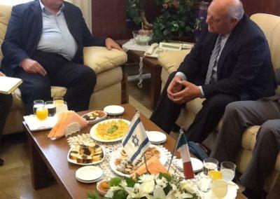 Durnwalder con il Sindaco di Haifa