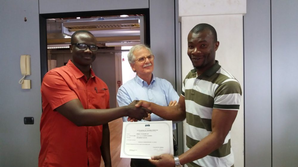 Diploma di Tecniche di produzione meccanica e Disegno meccanico. 2018