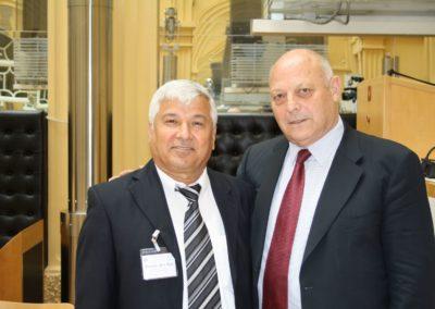 Missione in Israele di Luis Durnwalder, Presidente della Provincia autonoma di Bolzano. 2010. Nella foto con Thabet Abo Ras - Già Direttore di Shatil.