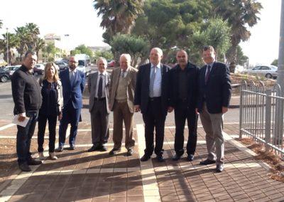 La delegazione. Missione del Presidente della Provincia di Bolzano, Luis Durnwalder, in Israele. 2013