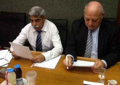 Missione del Presidente della Provincia di Bolzano, Luis Durnwalder, in Israele. Nella foto con il Sindaco di Nazareth Ramiz Jarais