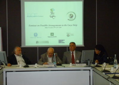 Seminar on Possible Arrangements in the Gaza Strip. Milano, 2009