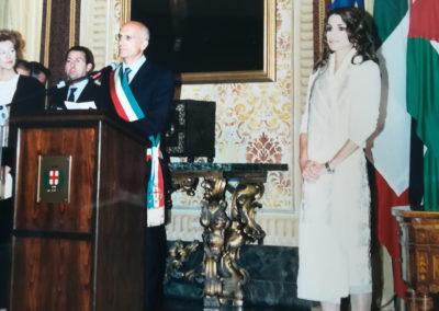 Il Sindaco Albertini e la Regina Rania di Giordania