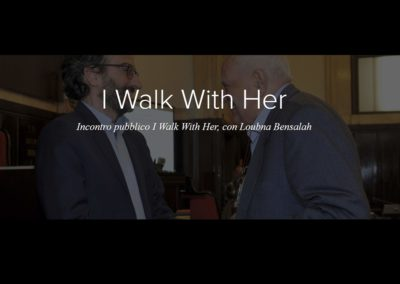 """I walk with her"", Incontro pubblico  con Loubna Bensalah, Milano, 2018"