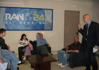 Stage negli studi di Rai News 24, Roma 2007