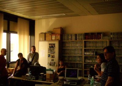 Stage negli studi di Rai News 24, Roma 2007.