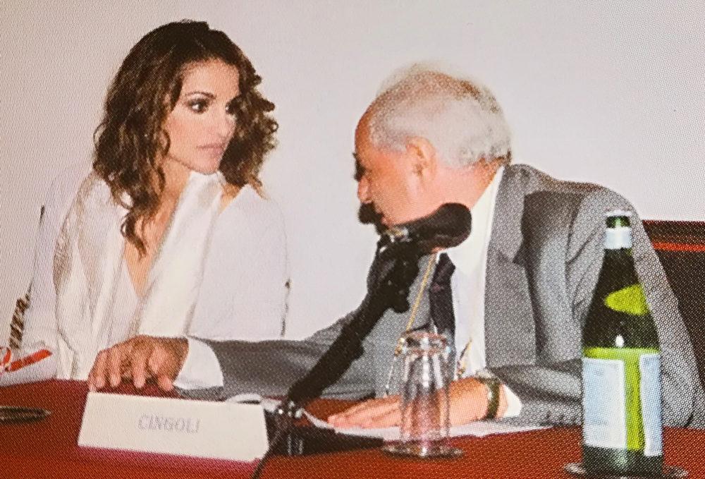 Sua Maestà Rania Al-Abdullah, Regina del Regno Hascemita di Giordania con Janiki Cingoli, Presidente CIPMO.