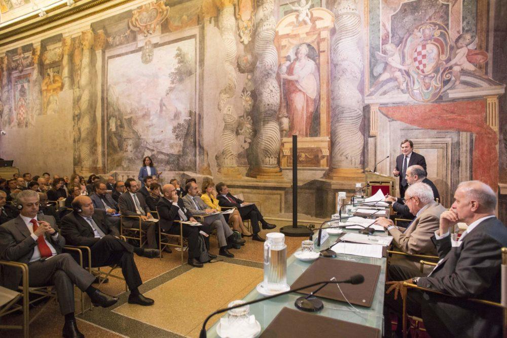 """Convegno internazionale.  """"Medio Oriente. La regione dei destini incrociati"""" 26 ottobre 2017,  Sala Zuccari di Palazzo Giustiniani presso il Senato della Repubblica, Roma."""