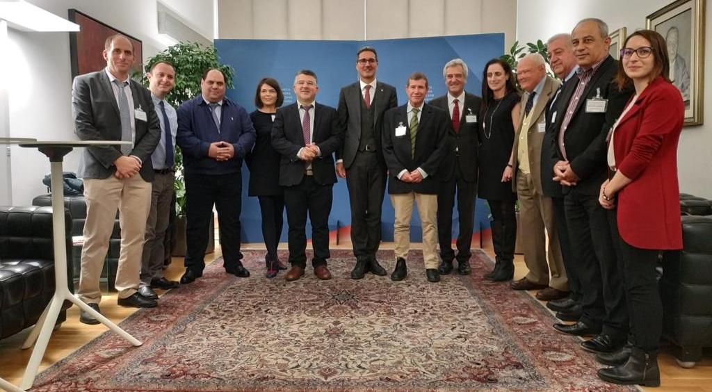La delegazione con il Presidente della Provincia di Bolzano Arno Kompatcher. 2018