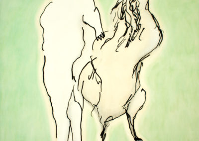 mondo pollaio, 2011 tecnica mista su tela, cm,350x280