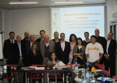 Seminar for young Israeli and Palestinian entrepreneurs, 24-27 November 2010, Turin