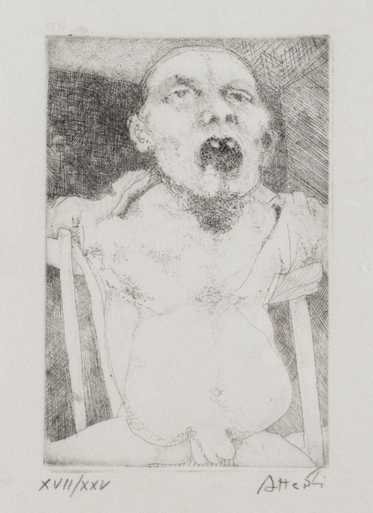 Ugo ATTARDI, Courtesy Galleria Schubert, Senza titolo, 1970, esemplare 17/25, Incisione, cm 48x34