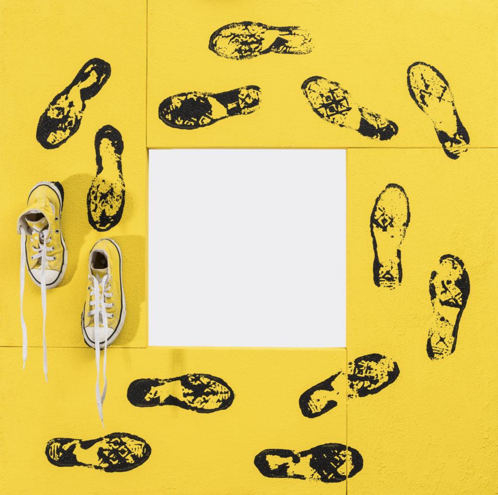 Albino Rodolfo BOFFI, No way out (senza via d'uscita), 2019, Mista su tela, cm100x100x15
