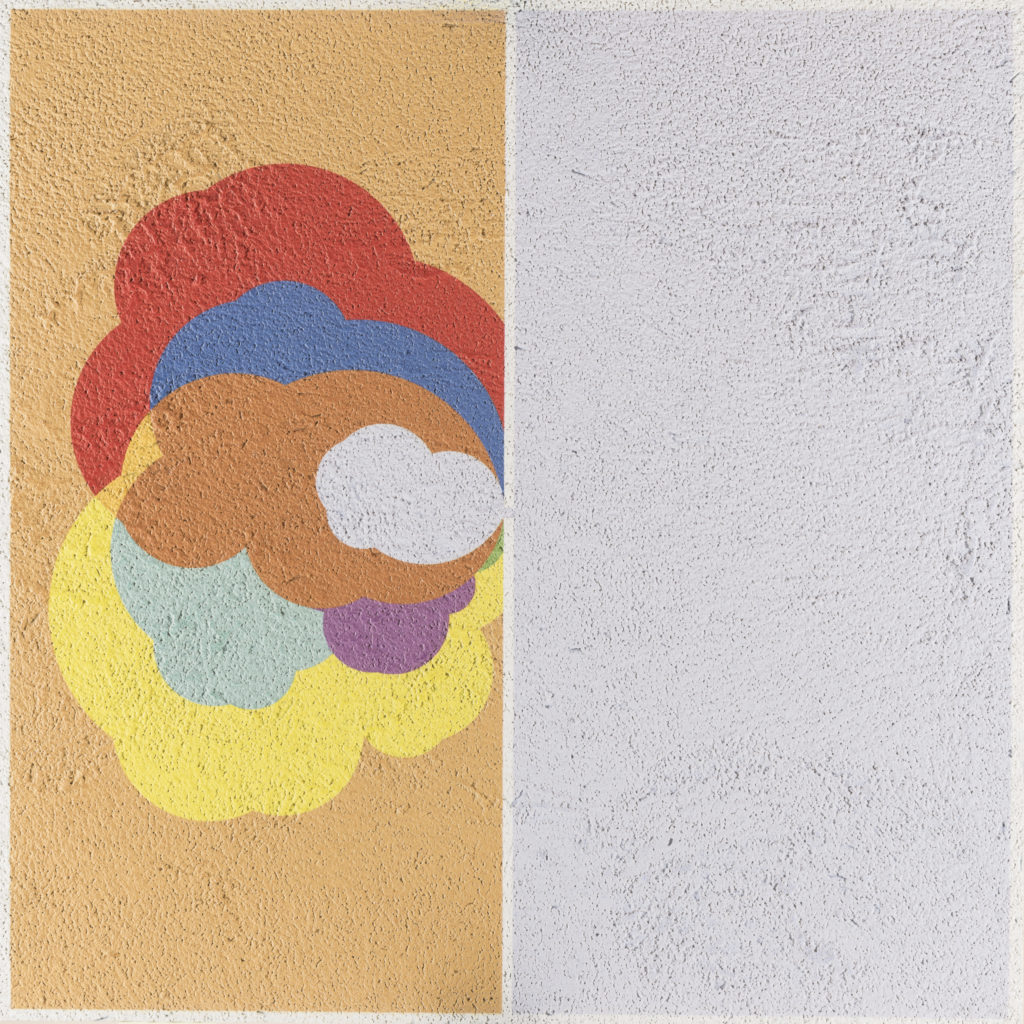 Diego BOIOCCHI, Lafalla, 2019, Bit fresco (affesco digitale su lastra di alluminio), cm 80x80
