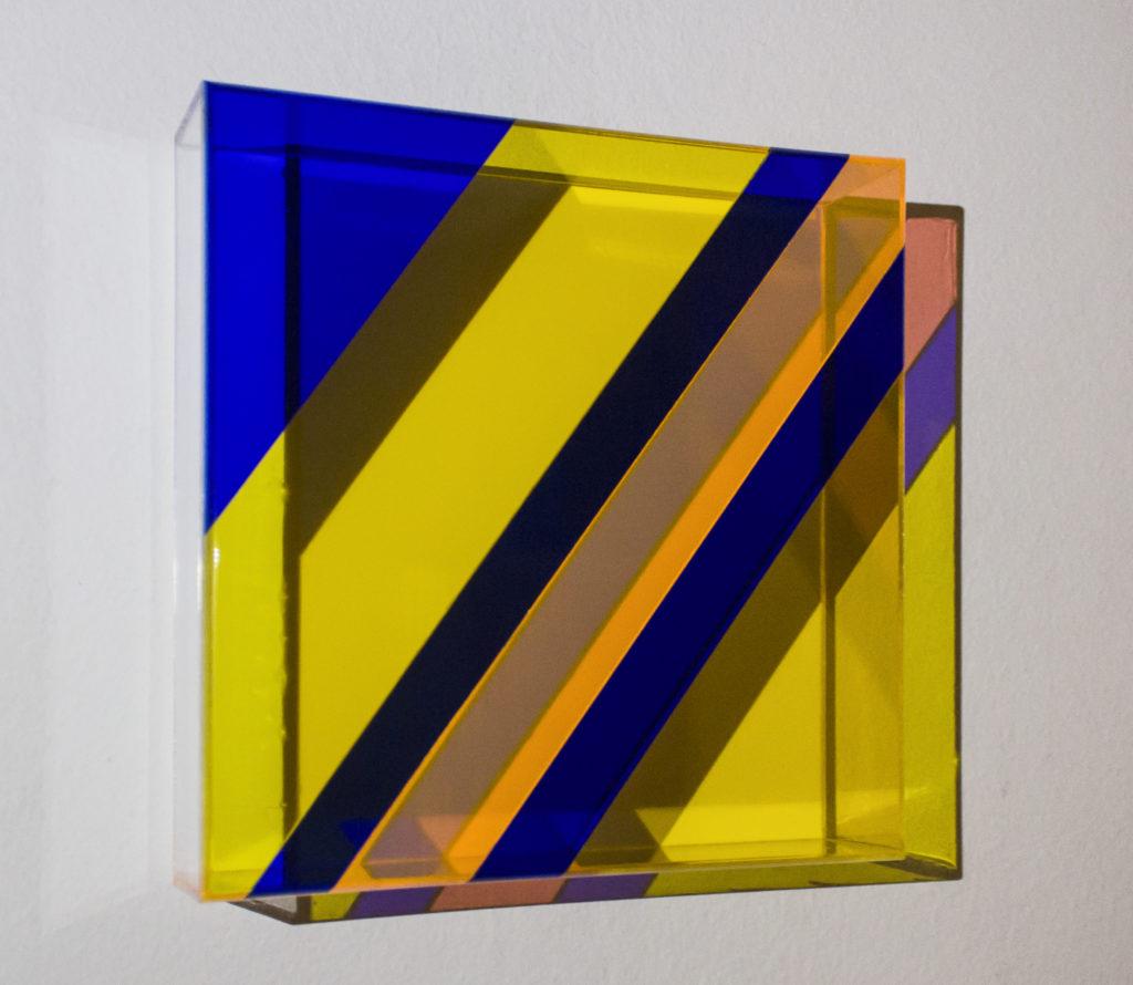 Leonardo GAMBINI, Segni del tempo, 2019, Plexiglass, cm  20x20x5