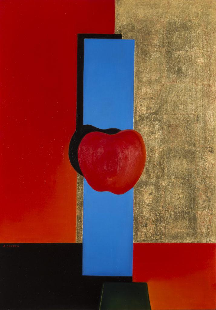 Lydia LORENZI, I colori dell'anima, 2012, Olio su tela e foglia d'oro, cm 77x55