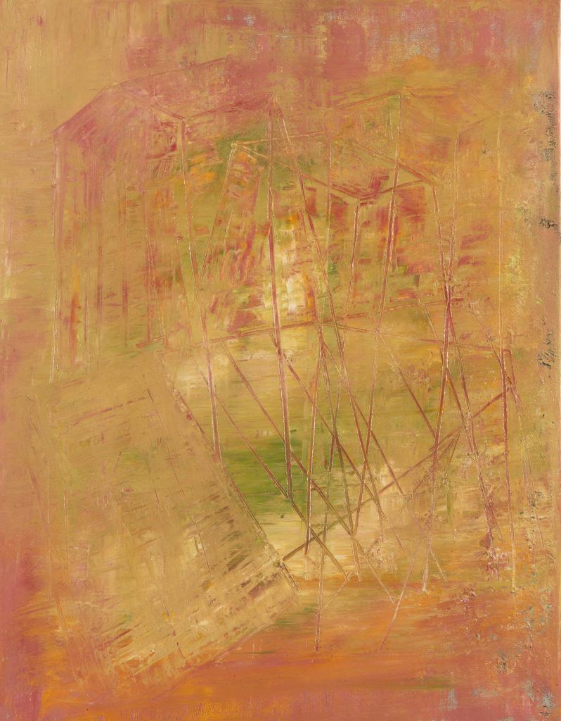 Francesco PATRIARCA, Senza titolo (architecture), 2017, Olio su tela, cm 45x35