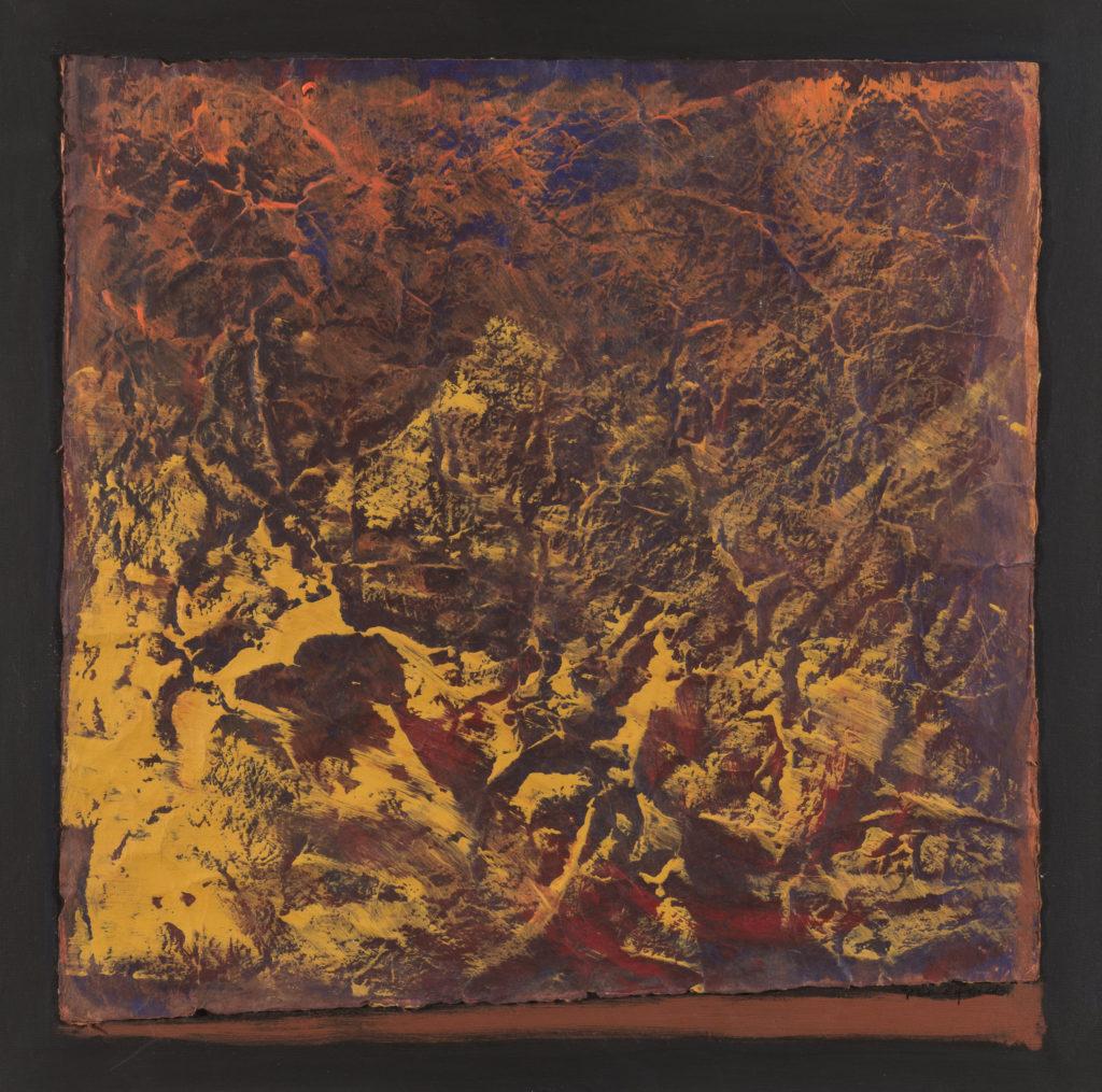 Tiziana PRIORI, Terra 2, 2007, Acrilico su carta nepalese e tela, cm 60x60