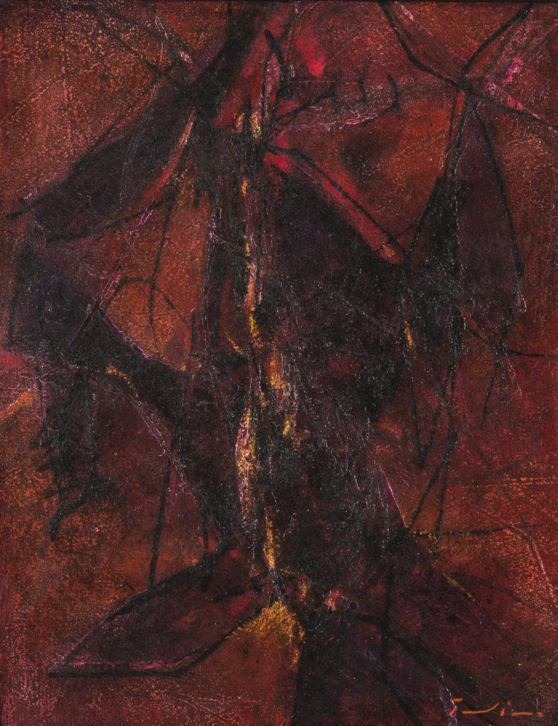 Salvatore PROVINO, Nel fuoco, 2009, Olio su tela incollato su masonite, cm 42x33