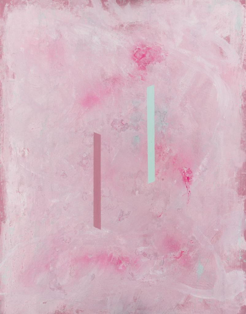 Giulio ZANET, Senza titolo, 2016, Mista su tela, cm 90x70