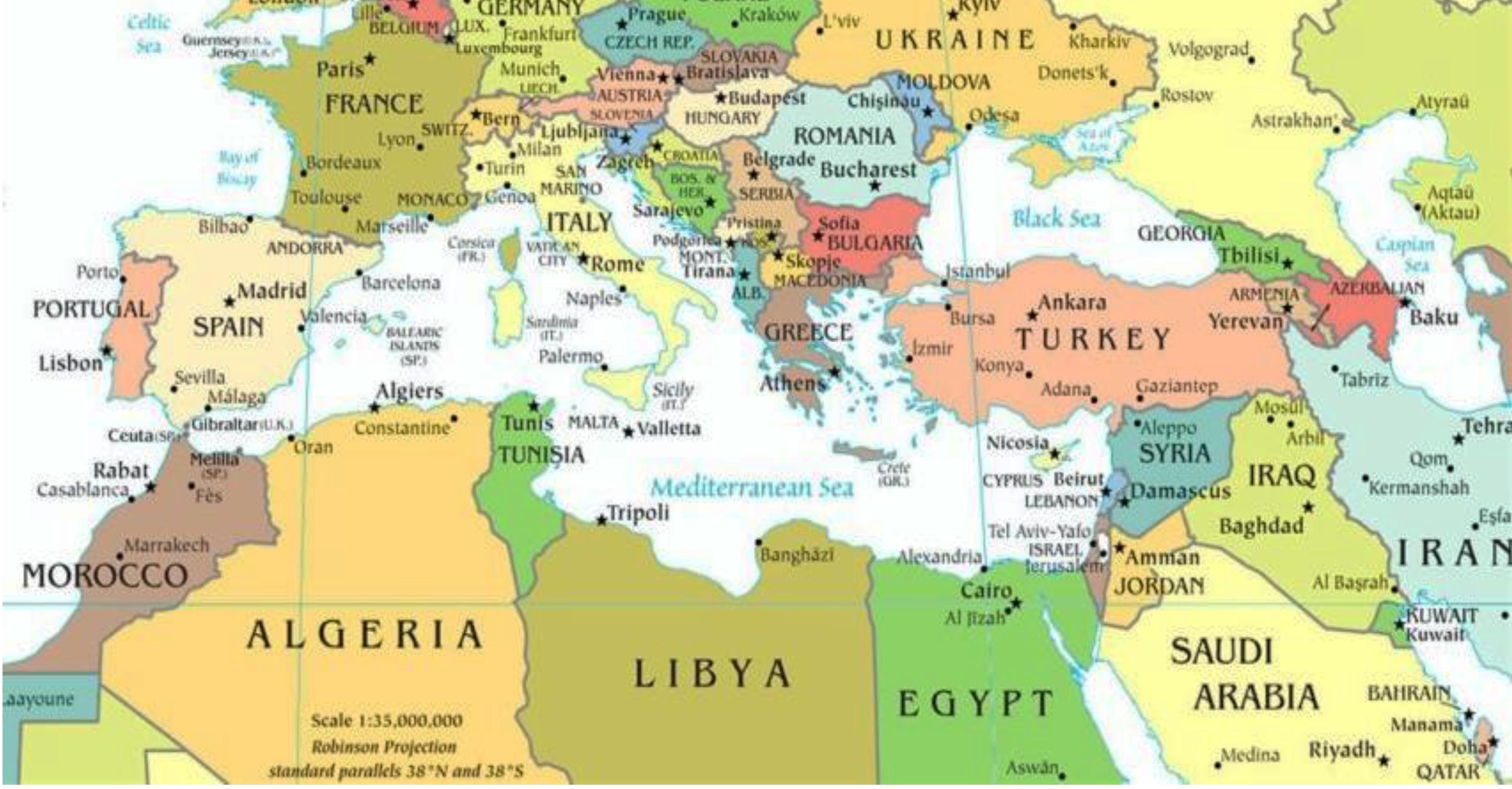 Politica Cartina Geografica Medio Oriente.Incontri Di Formazione Docenti Cipmo