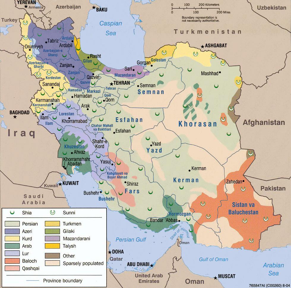 Iran distribuzione etnicoreligiosa